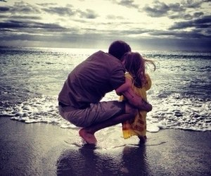 beach and dad image