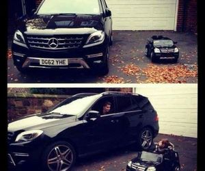 car, mercedes, and dad image