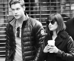 glee, rachel berry, and chord overstreet image
