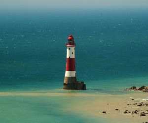 beach, lighthouse, and red image