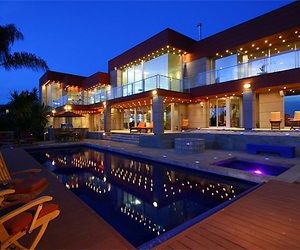 house, luxury, and light image