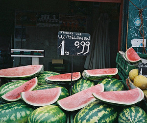 watermelon, fruit, and vintage image