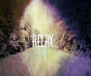 relax, winter, and snow image