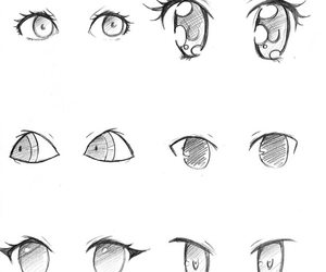 anime, drawing, and eyes image