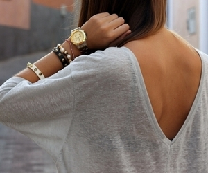 A girl, hair, and a watch image
