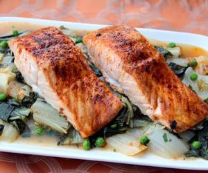 healthy, recipe, and salmon image