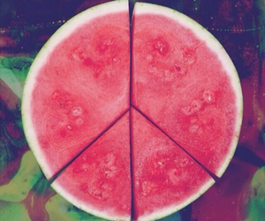 peace, summer, and watermelon image