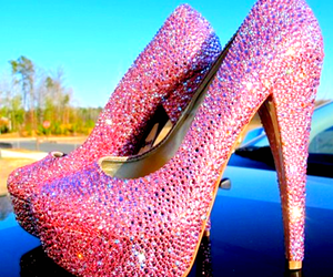 glitter, pink, and pleaser image