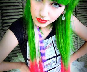 girl, hair, and green image