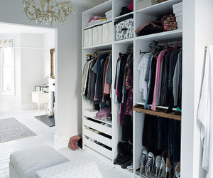 closet, tidy, and clothes image