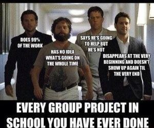 funny, school, and hangover image