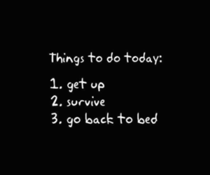 survive, bed, and quotes image
