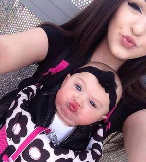 baby, girl, and duckface image