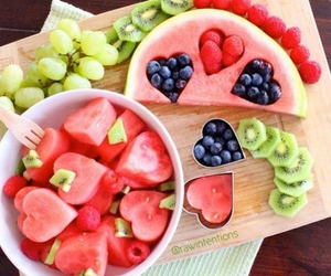 fruit, healthy, and watermelon image