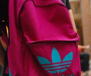 adidas, pink, and bag image