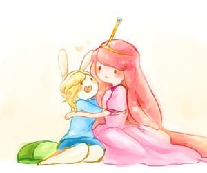 adventure time, fionna, and princess bubblegum image