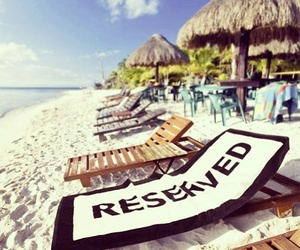 beach, summer, and reserved image