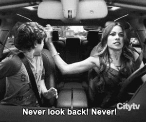 never, modern family, and never look back image