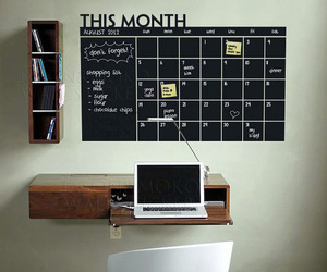 calendar, decor, and diy image