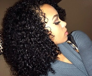 curly hair and mixed race image