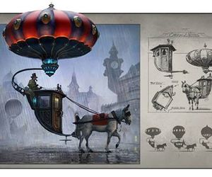 steampunk and surreal image