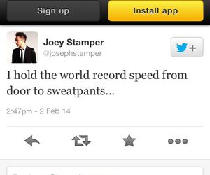 funny, twitter, and sweat pants image