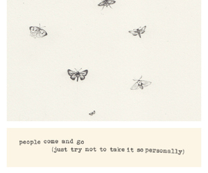 quote, butterfly, and people image