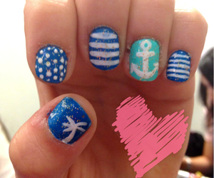 blue, nails, and pretty image