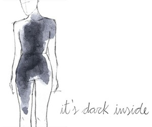 dark, depression, and inside image