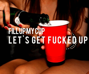 alcohol, cup, and drunk image