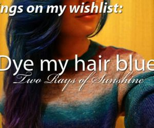 blue hair, dye, and girl image