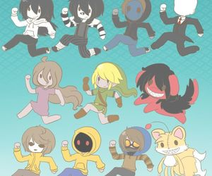 jeff the killer, ben drowned, and eyeless jack image