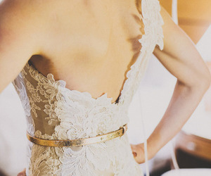 back, lace, and wedding image