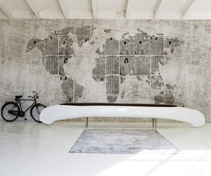 bicycle, maps, and black image