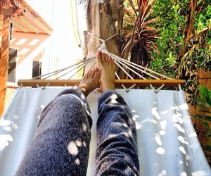legs, tropical, and relax image
