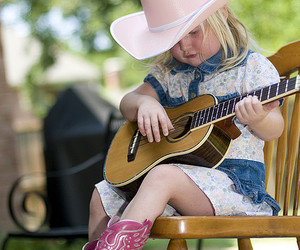 baby, boots, and guitar image