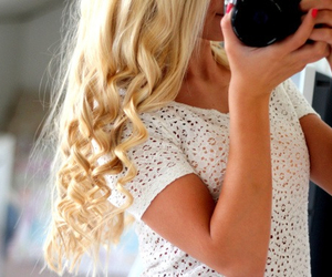 blond, curly, and love image
