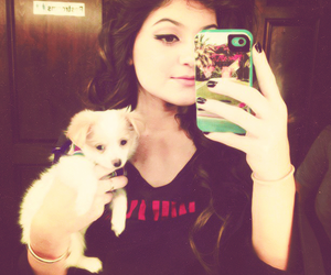 kylie jenner, dog, and iphone image