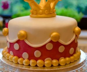cake, golden, and princess image