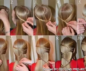 hairstyle, diy, and braid image