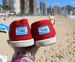 toms, beach, and girl image