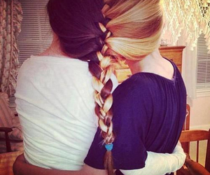 best friends, hair, and pretty. image