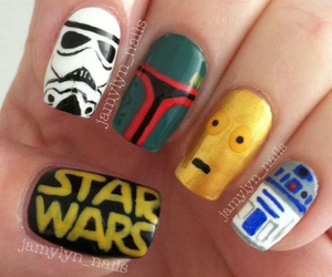 nails, chicas, and star wars image