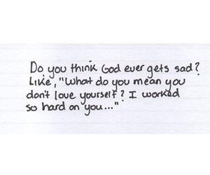 quote, god, and sad image