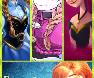 anna, frozen, and jelsa image