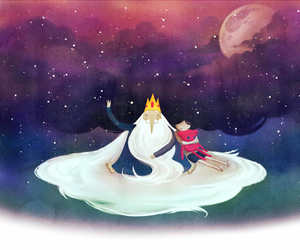marceline, adventure time, and ice king image