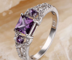 diamond, purple, and ring image