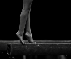 artistic, gymnastics, and black and white image
