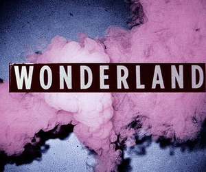 wonderland, smoke, and pink image