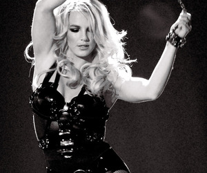 black and white, blond, and britney image